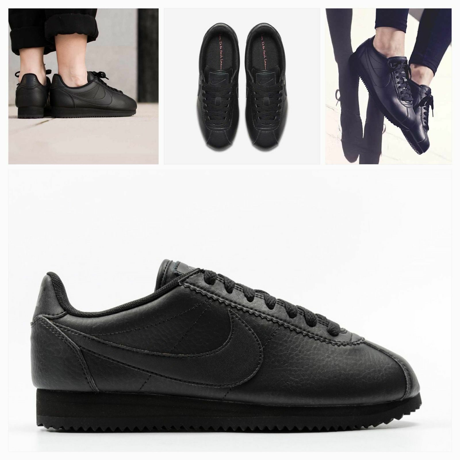 Damenschuhe CORTEZ  Herren NIKE CLASSIC CORTEZ Damenschuhe STR LEATHER SIZE 5 EUR 38.5 (884922 001) BLACK 35bad9