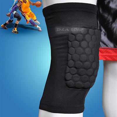 Kids Child Honeycomb Foam Pad Anticrash Sport Basketball Leg Knee Short Sleeve