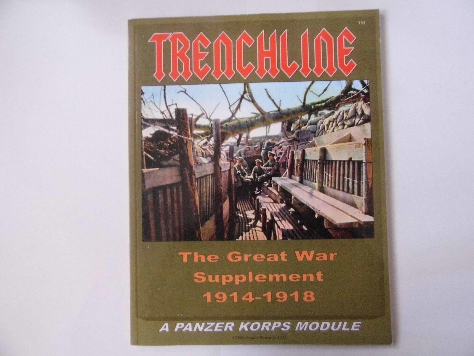 TRENCHLINE  - WARGAMES RULES - NEW SLIGHT SHELF WEAR