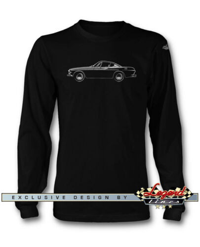 Multiple Colors and Sizes Volvo P1800 Coupe Long Sleeves T-Shirt Swedish Car