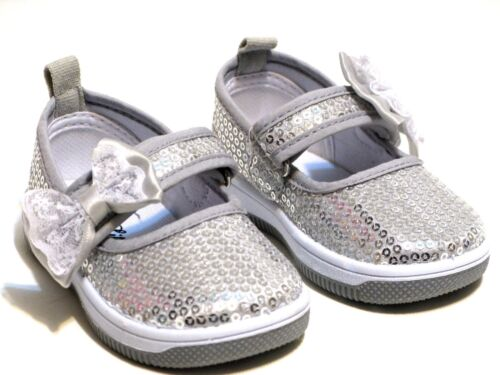 New Infant And Baby Toddler Girls Sequin Slip On Shoes 3 Colors Size 2-9