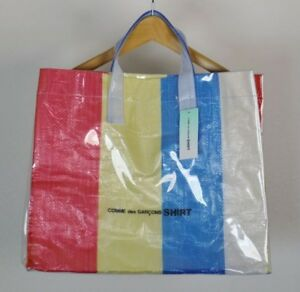 f0a3ee7ec NEW COMME DES GARCONS shirt tote bag 18ss PVC multicolor FROM JAPAN ...
