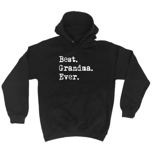 1 Best Grandma Ever Funny Novelty Hoodie Hoody hooded Top