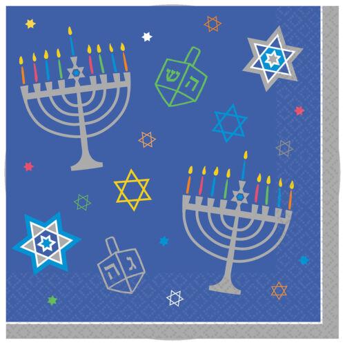 Jewish Hanukkah Party Supplies 36 x Hanukkah Paper Napkins Bumper Large Pack