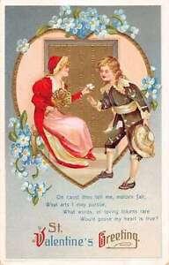 Detalles Acerca De St Día De San Valentín Poema Colonial Par De Felicitación Antigua Postal K36022 Mostrar Título Original