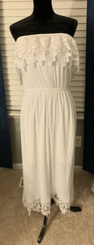 Women's White Off The Shoulder Maxi Dress By New L