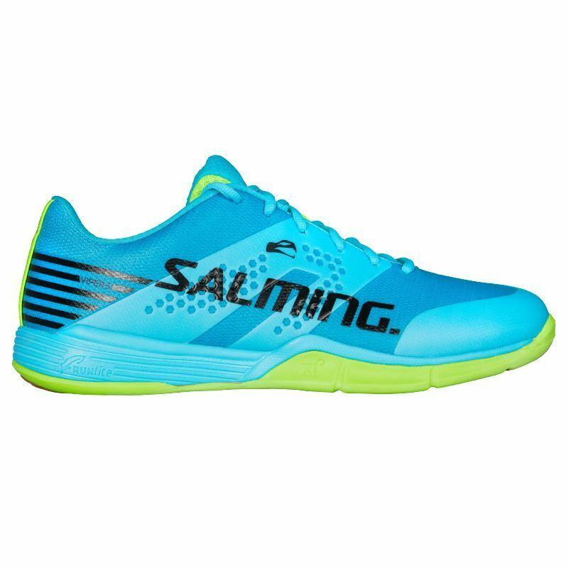 Salming Mens Viper 5 Indoor shoes 2018 (bluee Atol  Flugold Green)