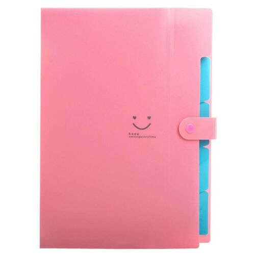 Office A4-Paper Expanding File Folder Pockets Accordion Document Organizer AA