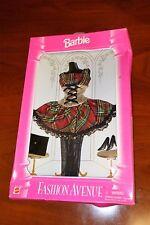 1995 Barbie Fashion Avenue Boutique 14980 Plaid Dress Purse and Boots Free S&H