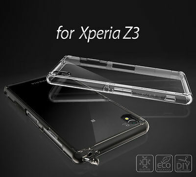Sony Xperia Z3 Z3 Compact Case Ringke Fusion Hard Slim Dust Cap Clear Back Cover