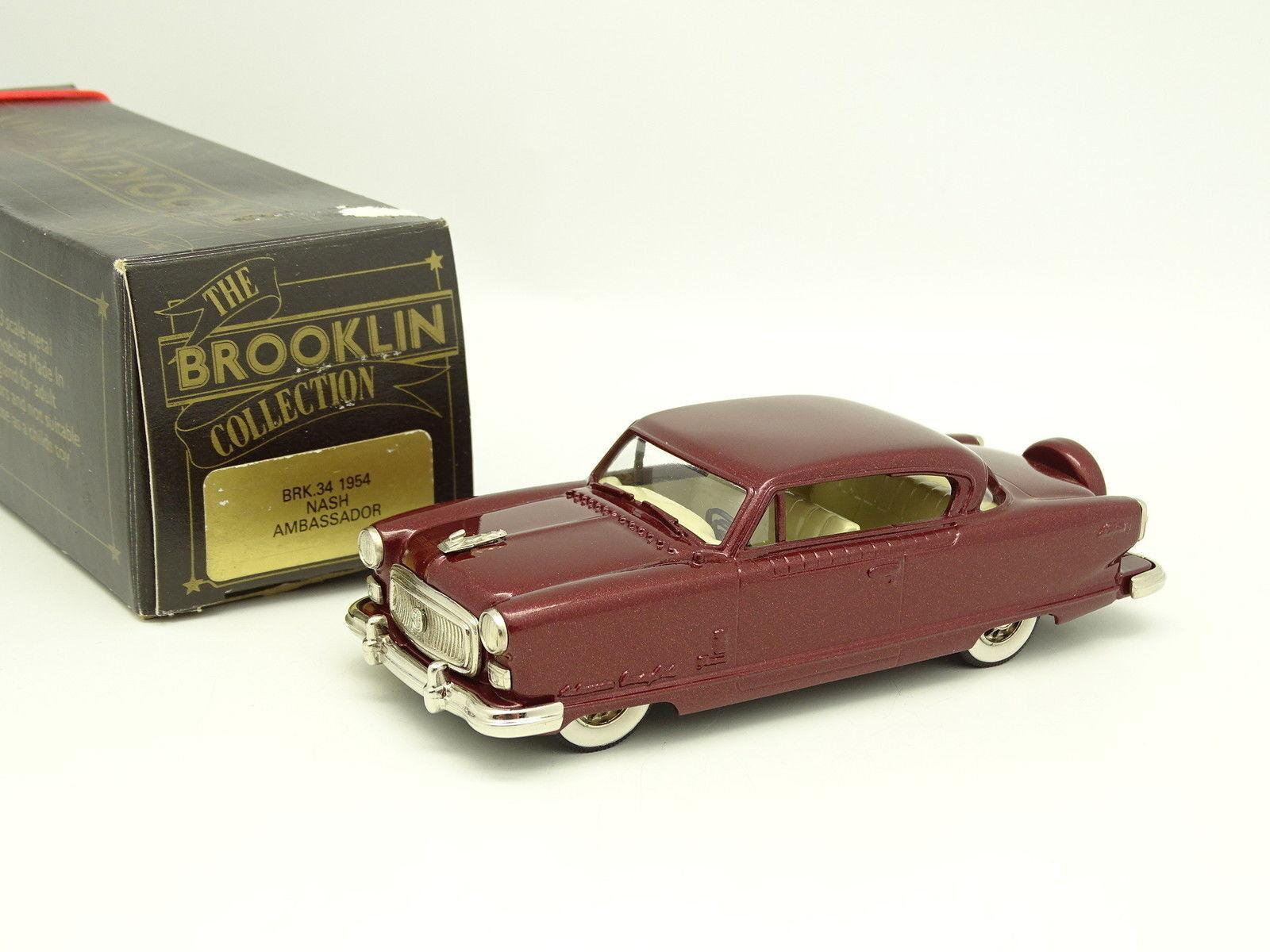 Brooklin 1 43 - Nash Ambassador 1954 red