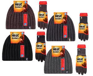Heat-Holders-Uomo-Invernali-Caldi-Termici-Natale-Maglia-Guanti-e-Cappelli-Set