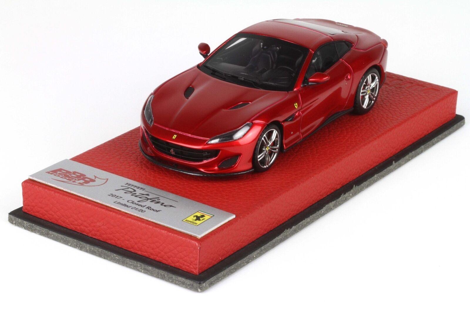 Ferrari Portofino Closed Roof Iaa Frankfurt 2017 red BBR 1 43 BBRC209EPRE