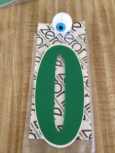Rare NOS Green ZERONINE Number 0 Old School BMX Plate Decal Sticker Haro