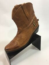 Franco Sarto Boots Western Brown Ankle 9 Waco Leather Cowboy