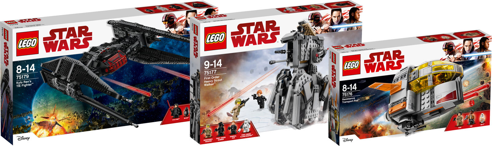 LEGO ® Star Wars Super Set 75179 75177 75176