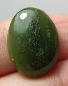 1 pc 15x20 mm green jade high dome 6.7 mm genuine octagon rectangle cabochon