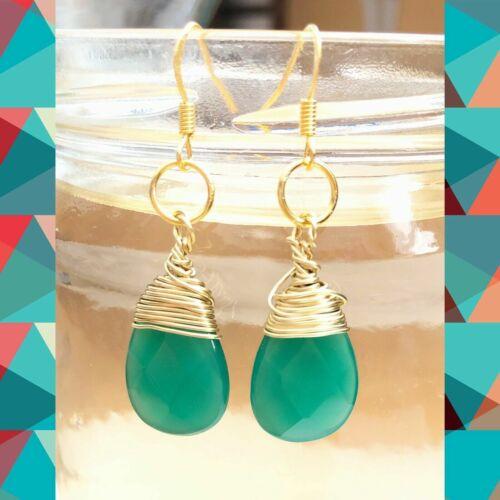 handmade wired earring