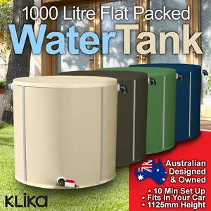 1000L-WATER-TANK-PAK-FLAT-POLY-WATERTANK-CLEAN-STORAGE-COLLECTION-GARDEN-RAIN