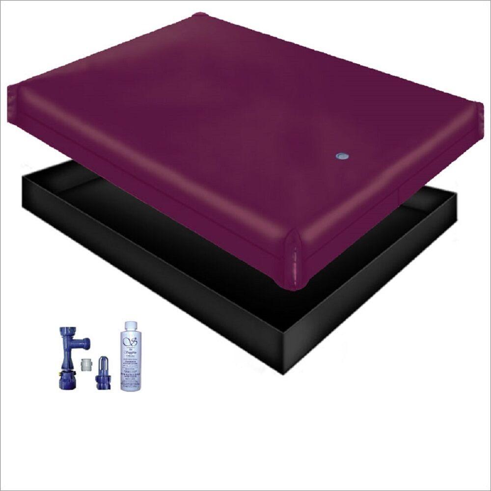 KING//CAL KING 98/% Waveless Waterbed Mattress-FREE Drain//Fill Kit /& Conditioner