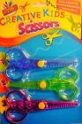3 Novelty Cut Safety Scissors Set Creative Children Kids Funky Art Craft 6170