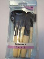 Essence Of Beauty At Home Face Brush Set4 Travel Size Brushes Pow,eye Brow,sha