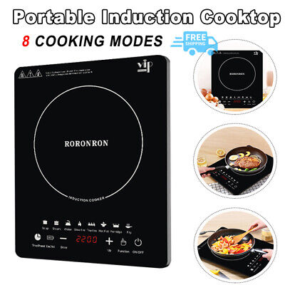 Details about  2200W Electric Induction Cook Single Cooker Kitchen Hot Plate Hob Portable AUS
