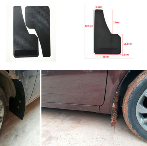 2X Car Auto Carbon Fiber Look Front Rear Wheel Plastic Fender Mud Flaps Mudguard