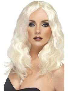 femmes-Superstar-Perruque-a-longs-cheveux-Carnaval-de-dames-NEUF