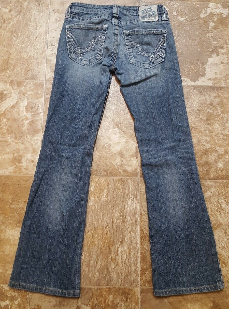 BIG STAR LIV BOOT DESIGNER JEANS WOMENS SIZE 25 Long actual 25x28