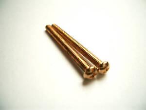2 göldo Schrauben für Humbucker 25mm US-Gewinde gold