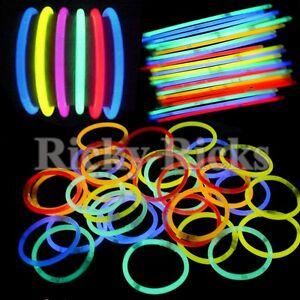 100-Premium-Glow-Sticks-Bracelets-Neon-Light-Glowing-Party-Favors-Rally-Raves