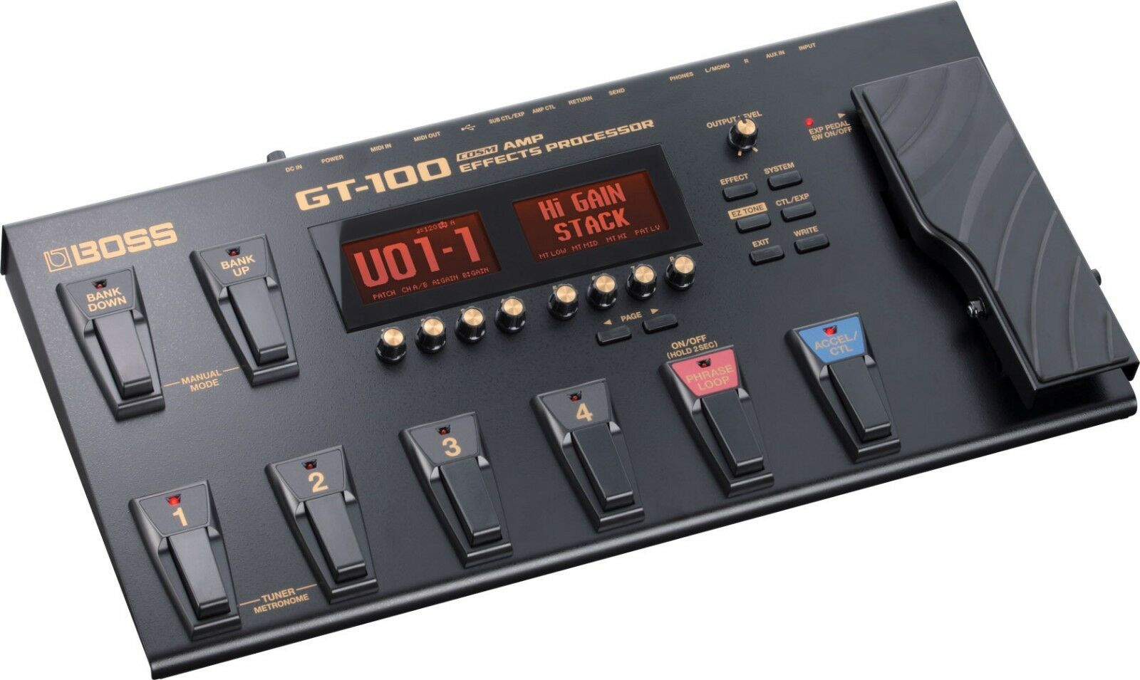 BOSS GT-100 V2 VERSION 2 GUITAR EFFECTS PEDAL PROCESSOR & POWER SUPPLY 8 1000
