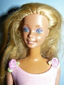 a3acb6220d54 Mattel 1970s Twist N turn Blond Barbie doll in pink dress and shoes ...