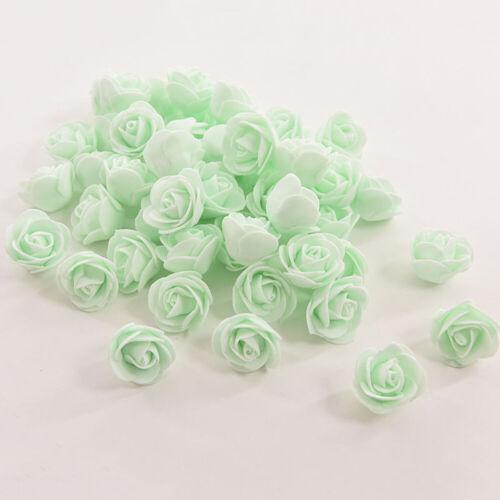 50pcs Small Silk Beautiful Rose Bud Heads Artificial Flower Wedding Party Decor
