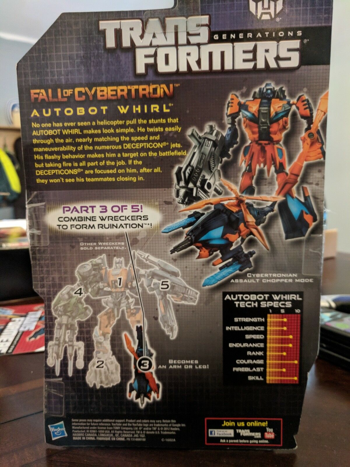 Transformers Generations Generations Generations Fall Of Cybertron Whirl 2a9c1f