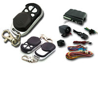 Universal 1-way Auto Car Alarm Security System Keyless Entry&two 4-button Remote