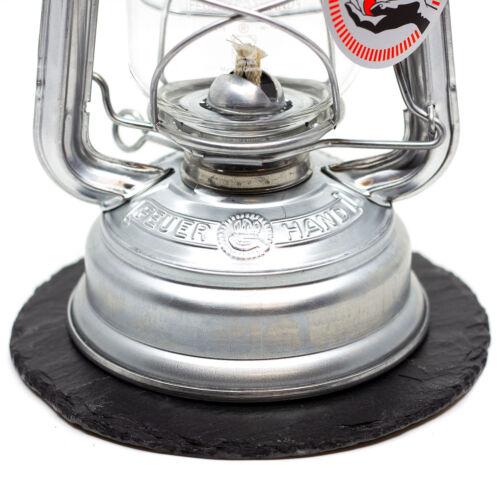 Dessous de verre ardoise plaque ronde adapté pour Petromax-FEUERHAND 276 les lanternes