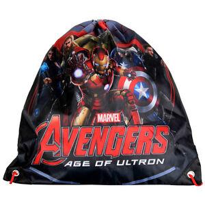 Marvel-Avengers-Shoe-Bag-Drawstring-Gym-Dance-Swim-Travel-Boys-Age-of-Ultron