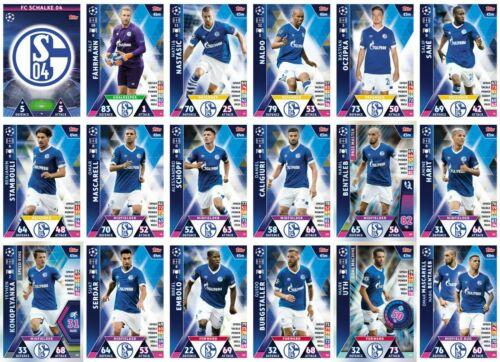Match Attax Champions League 18//19 FC Schalke 18 Card Team Set-Complet