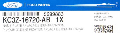 OEM NEW 17-20 Ford F250 Super Duty Lariat Black Sport Appearance Fender Emblems