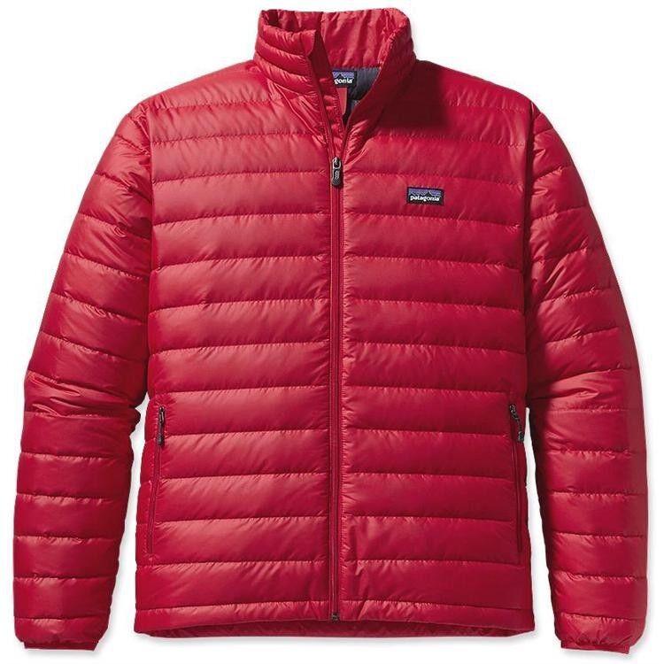Patagonia Men's down Sweater Jacket-rojo-L large