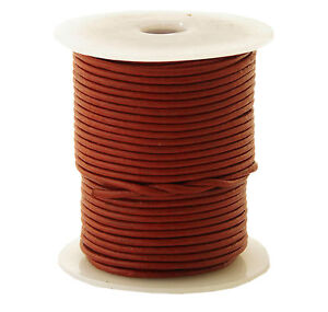50m-Lederband-auf-Rolle-Spule-0-46-1m-1-5-mm-stark-50-Meter-Farbe-rotorange