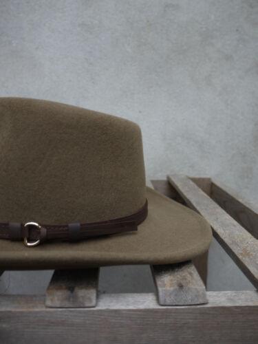 OUTBACK Tawny Marrone Flexfelt//soffelt Bush Cappello Olney Headwear 100/% LANA S//M//L//XL