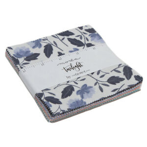 Charm-pack-Twilight-by-One-Canoe-Two-for-Moda-42-5-034-squares-100-cotton-36030