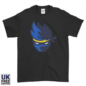 Ninja-visage-Gaming-Gamer-Cool-youtuber-ninjashyper-Hommes-Femmes-Enfants-T-Shirt