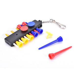1x-Golf-Tee-Holder-Carrier-with-12-plastic-Tees-w-3-Ball-Markers-W-1KeyChainFAA