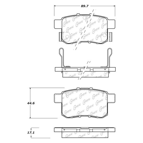 Front And Rear Ceramic Brake Pads Kit For Honda Accord 2011 2012 2013 2014 2015
