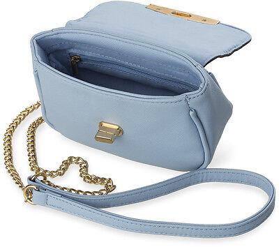 kleine Schultertasche wunderschöne Damentasche mit Kettenriemen weiß