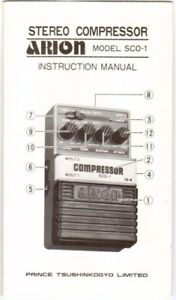 ARION-SCO-1-Effects-Pedal-Instruction-Manual-Very-Good-Condition
